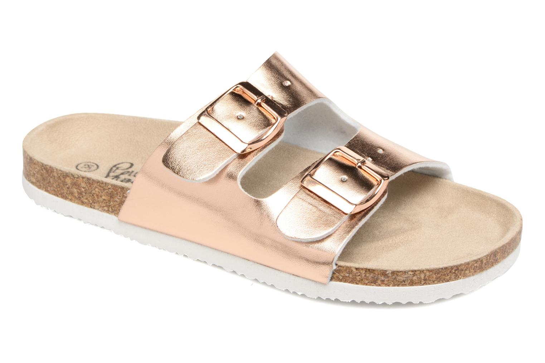 Sandales et nu-pieds I Love Shoes Mcbee Or et bronze vue détail/paire