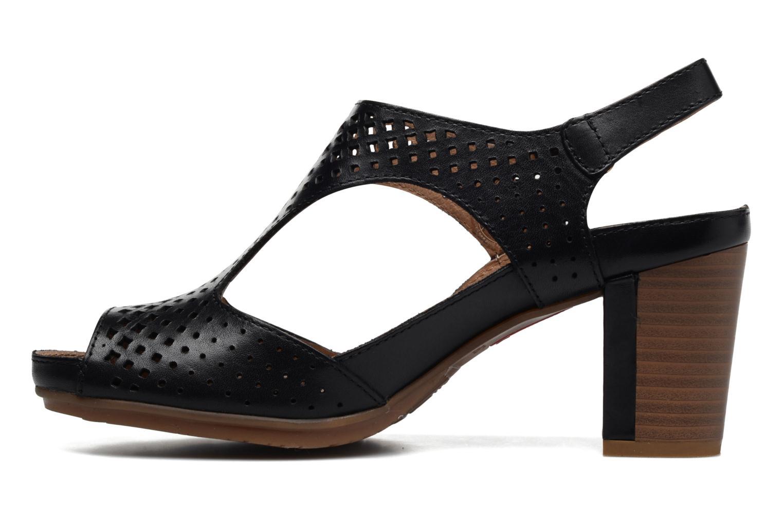 Sandales et nu-pieds Pikolinos Java W0K-0919 Noir vue face