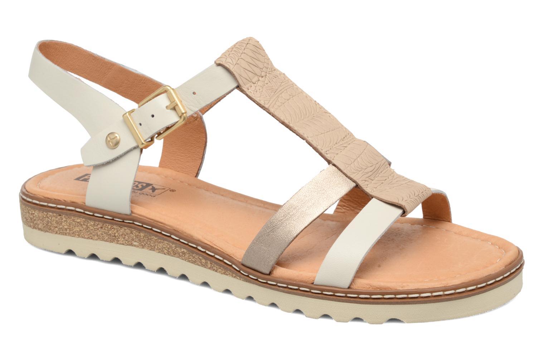 Sandales et nu-pieds Pikolinos Alcudia W1L-0956 Blanc vue détail/paire