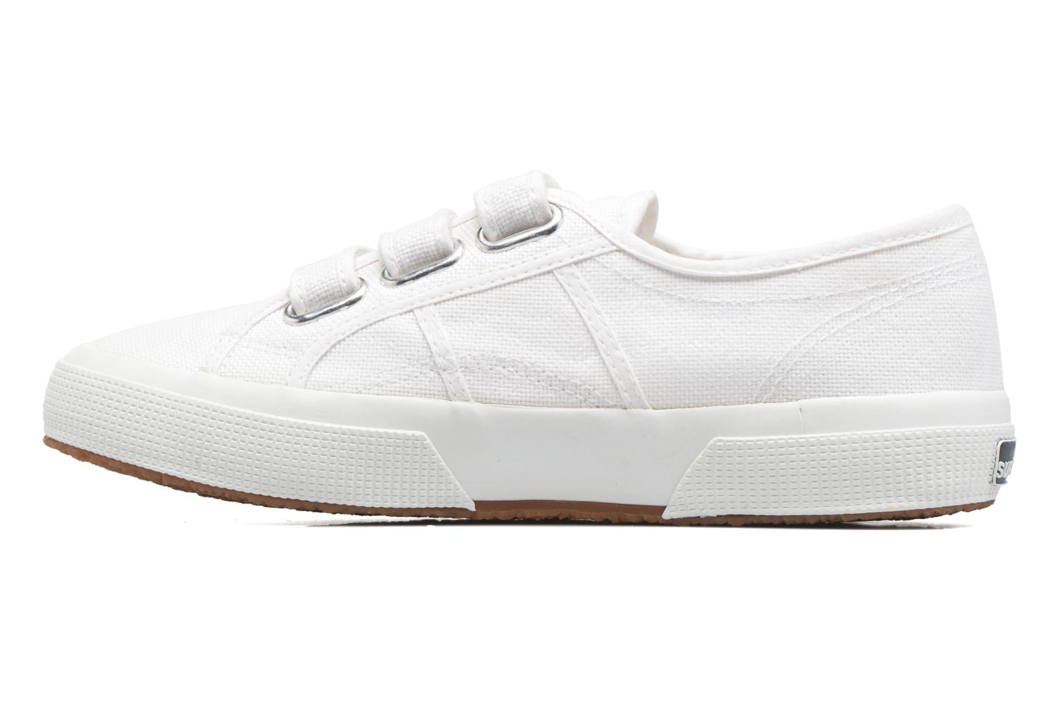 Baskets Superga 2750 Cot 3 Strapu Blanc vue face