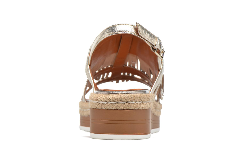 Sandales et nu-pieds Bruno Premi Lia Or et bronze vue droite