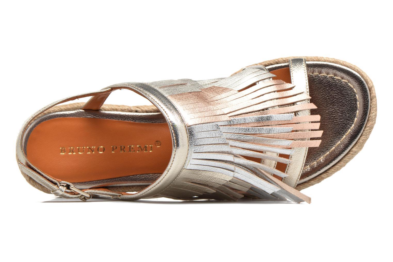 Sandales et nu-pieds Bruno Premi Lia Or et bronze vue gauche