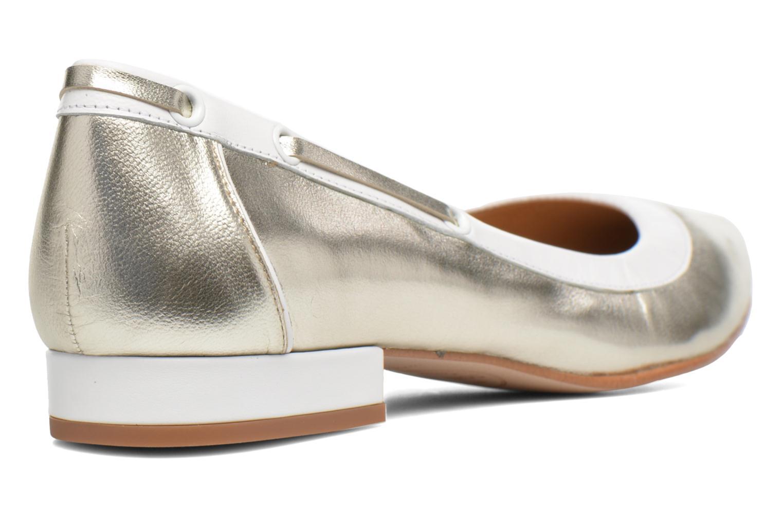 Ballet pumps Made by SARENZA Sugar Shoegar #5 Silver front view