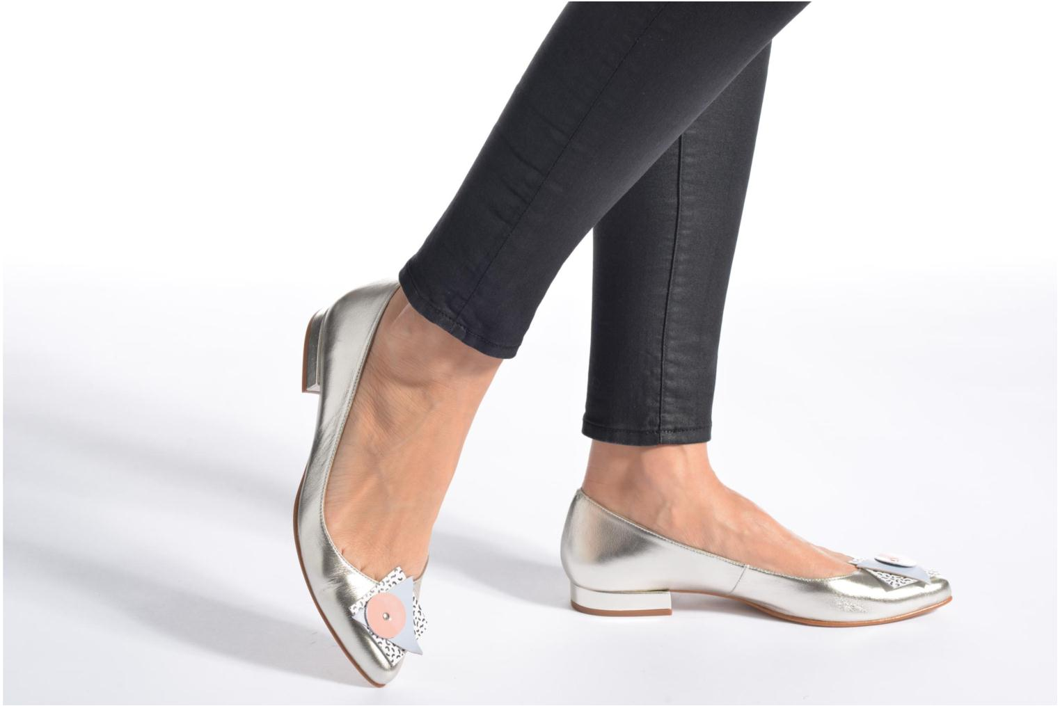 Ballet pumps Made by SARENZA Sugar Shoegar #4 Silver view from underneath / model view