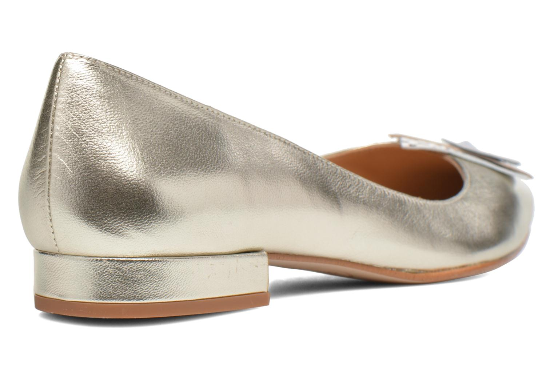 Ballet pumps Made by SARENZA Sugar Shoegar #4 Silver front view