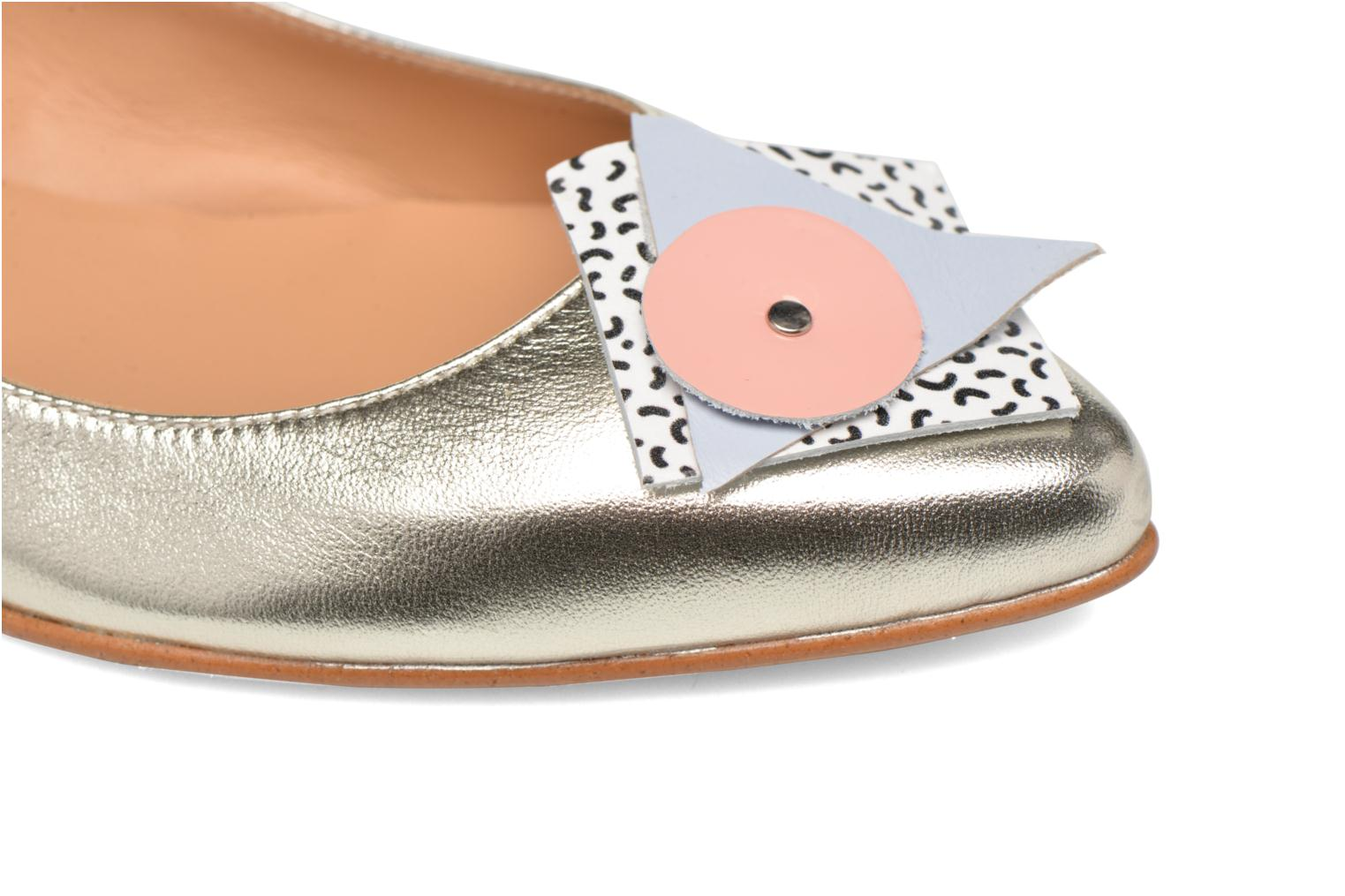 Ballet pumps Made by SARENZA Sugar Shoegar #4 Silver view from the left