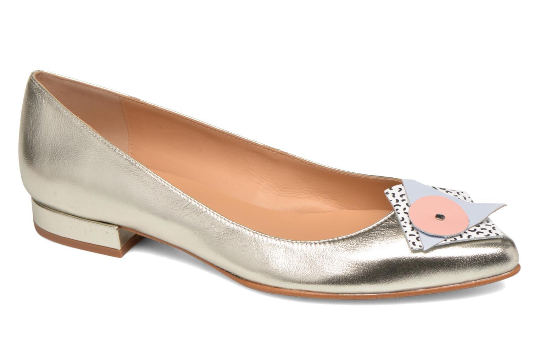 Ballet pumps Made by SARENZA Sugar Shoegar #4 Silver detailed view/ Pair view