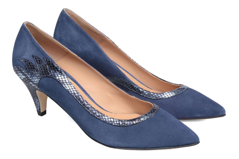 Høje hæle Made by SARENZA Rock-a-hula #8 Blå se bagfra