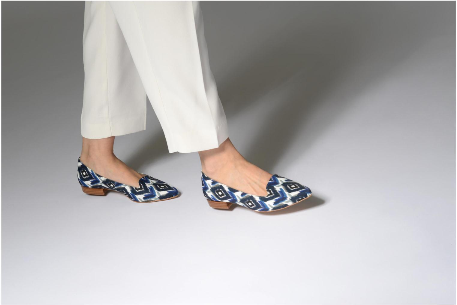 Loafers Made by SARENZA Bombay Babes Mocassins #1 Silver view from underneath / model view