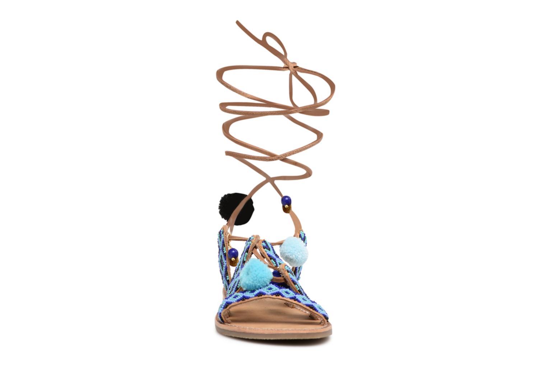 Sandalen L'Atelier Tropézien Nina blau schuhe getragen