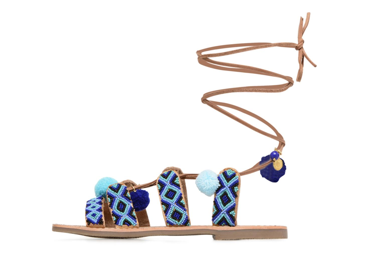 Sandalen L'Atelier Tropézien Nina blau ansicht von vorne