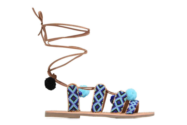 Sandalen L'Atelier Tropézien Nina blau ansicht von hinten