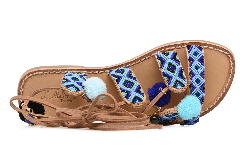 Sandalen L'Atelier Tropézien Nina blau ansicht von links