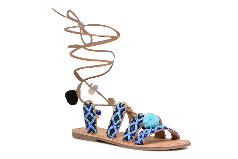 Sandalen L'Atelier Tropézien Nina blau detaillierte ansicht/modell