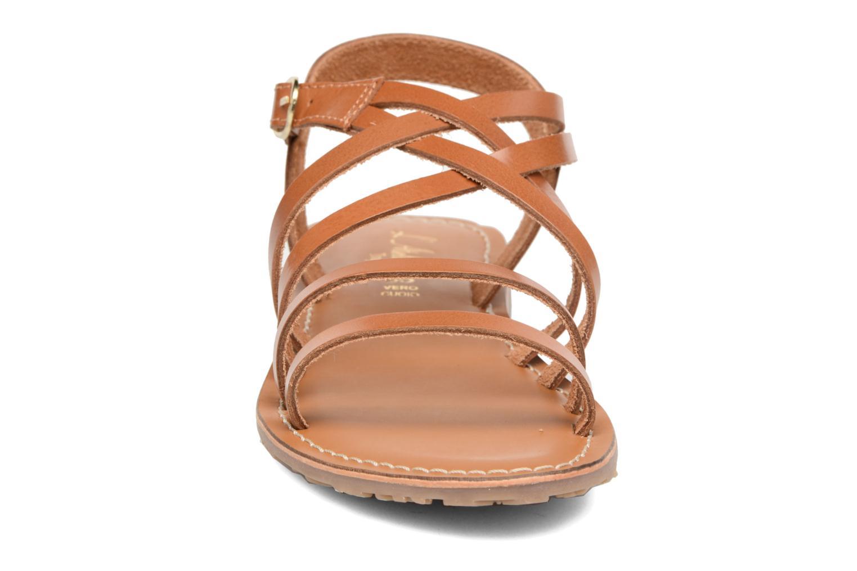 Sandales et nu-pieds L'Atelier Tropézien Justine Marron vue portées chaussures