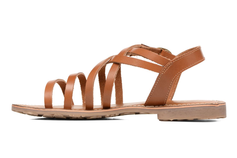 Sandales et nu-pieds L'Atelier Tropézien Justine Marron vue face