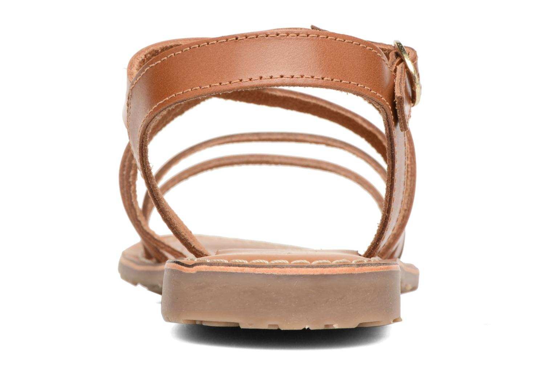 Sandales et nu-pieds L'Atelier Tropézien Justine Marron vue droite