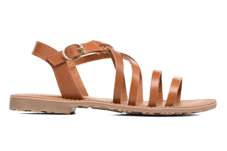 Sandales et nu-pieds L'Atelier Tropézien Justine Marron vue derrière