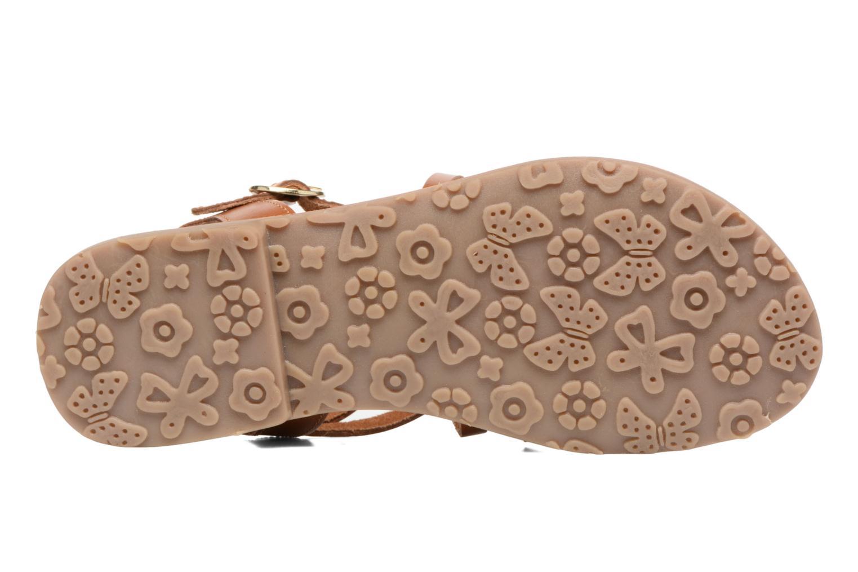 Sandales et nu-pieds L'Atelier Tropézien Justine Marron vue haut