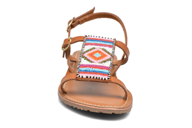 Sandales et nu-pieds L'Atelier Tropézien Laura Marron vue portées chaussures