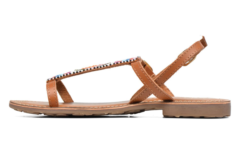 Sandales et nu-pieds L'Atelier Tropézien Laura Marron vue face