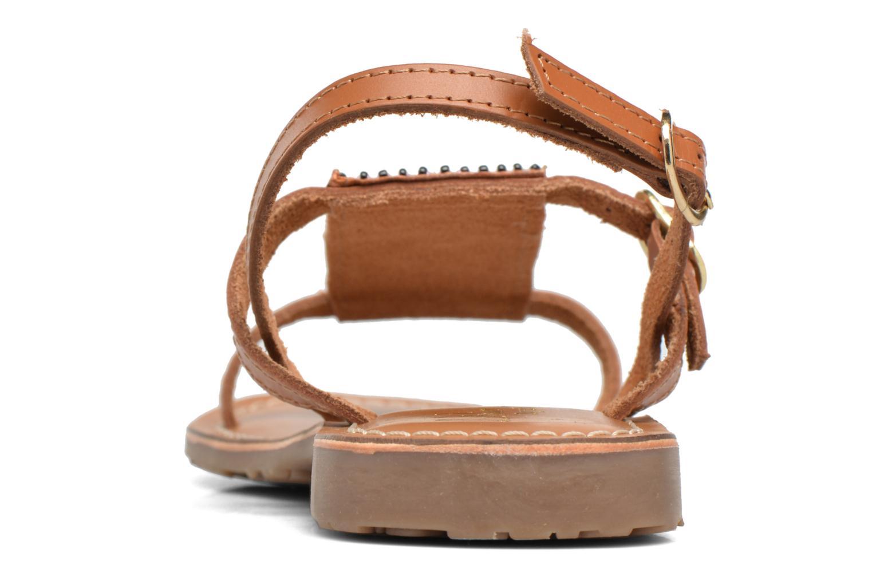 Sandales et nu-pieds L'Atelier Tropézien Laura Marron vue droite
