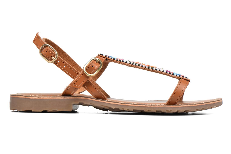Sandales et nu-pieds L'Atelier Tropézien Laura Marron vue derrière