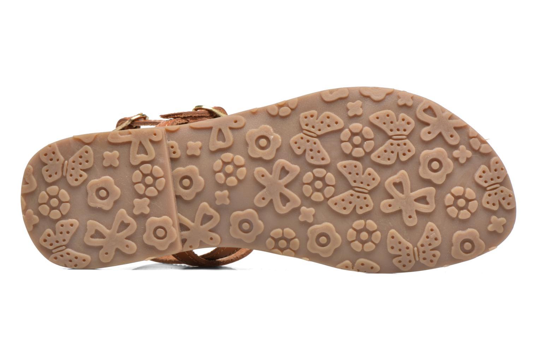 Sandales et nu-pieds L'Atelier Tropézien Laura Marron vue haut
