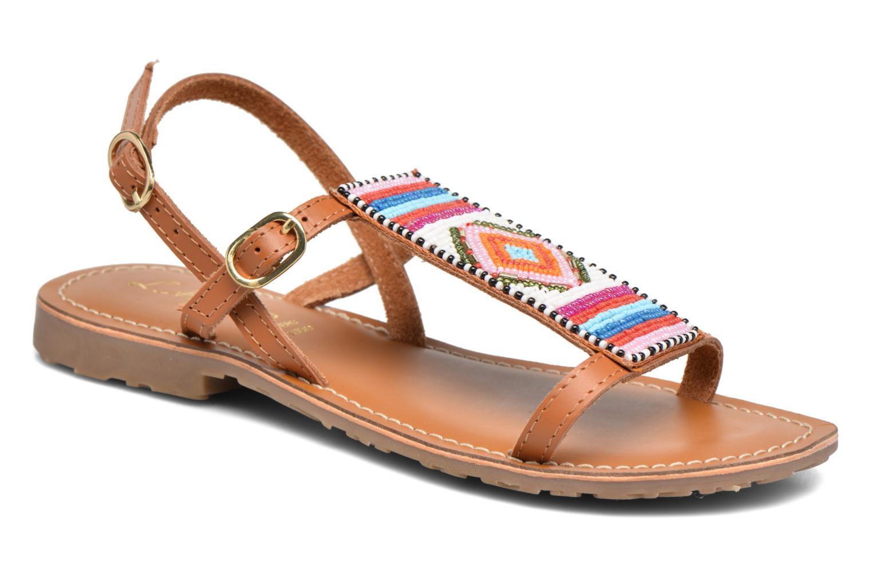 Sandales et nu-pieds L'Atelier Tropézien Laura Marron vue détail/paire