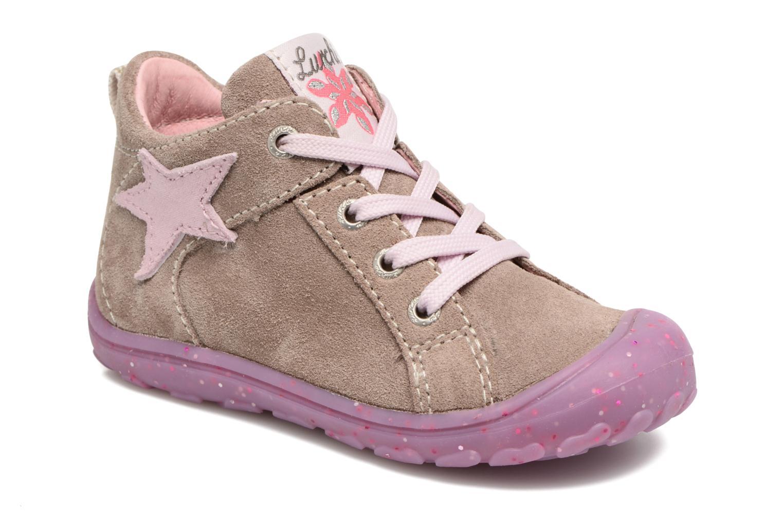 Chaussures à lacets Lurchi by Salamander Goldy Suede Beige vue détail/paire