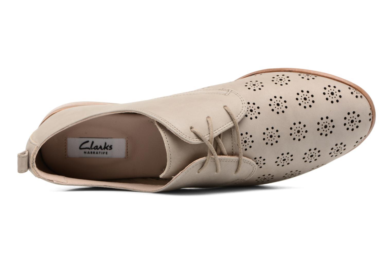 Chaussures à lacets Clarks Alania Posey Beige vue gauche