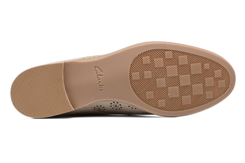 Chaussures à lacets Clarks Alania Posey Beige vue haut