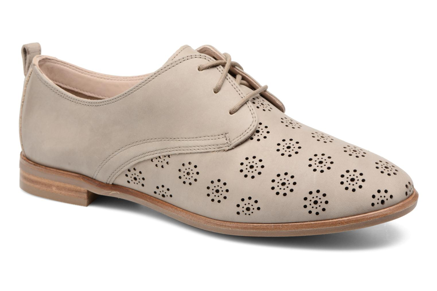Lace-up shoes Clarks Alania Posey Beige detailed view/ Pair view