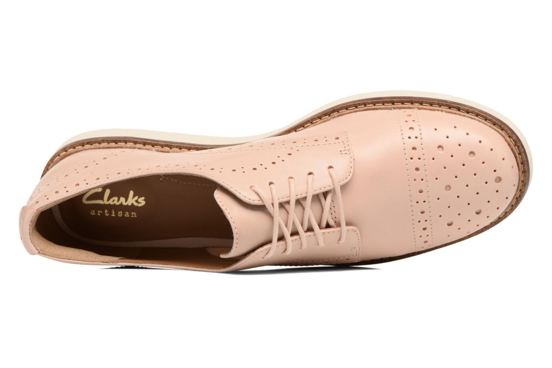 Scarpe con lacci Clarks Glick Shine Rosa immagine sinistra