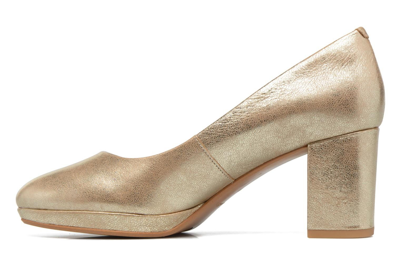 Zapatos de tacón Clarks Kelda Hope Oro y bronce vista de frente