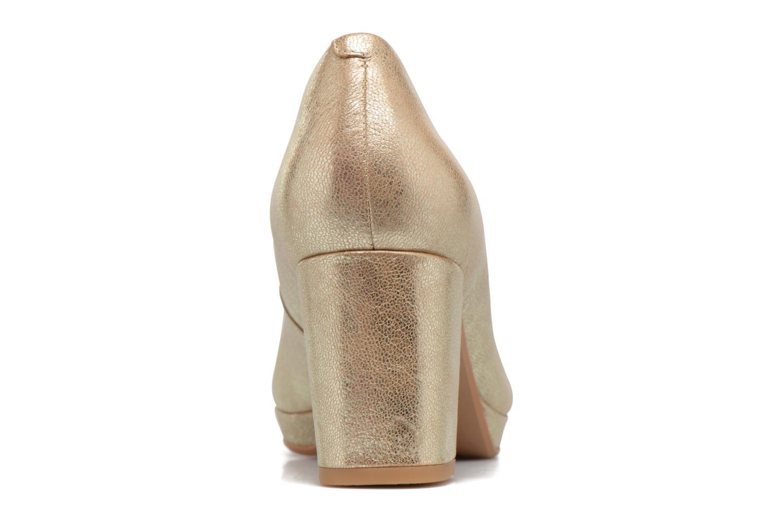 Zapatos de tacón Clarks Kelda Hope Oro y bronce vista lateral derecha