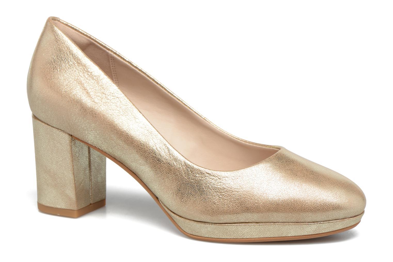 Zapatos de tacón Clarks Kelda Hope Oro y bronce vista de detalle / par