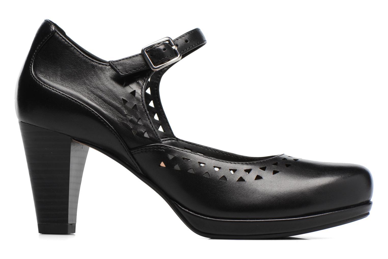 Zapatos de tacón Clarks Chorus Chime Negro vistra trasera