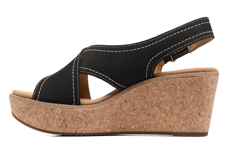 Sandales et nu-pieds Clarks Aisley Tulip Noir vue face