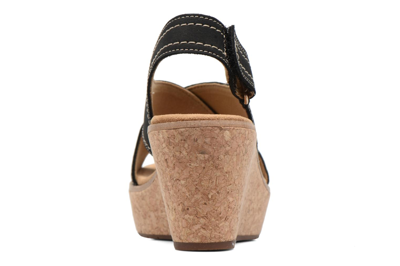 Sandales et nu-pieds Clarks Aisley Tulip Noir vue droite