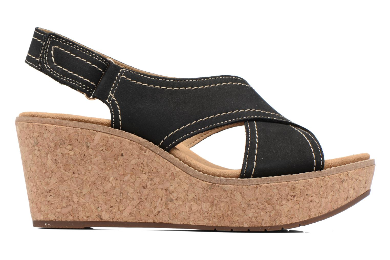 Sandales et nu-pieds Clarks Aisley Tulip Noir vue derrière