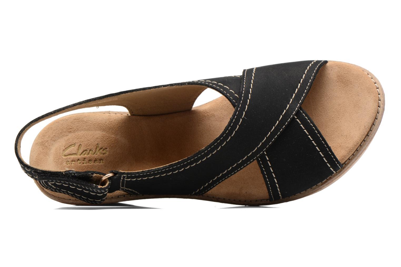 Sandales et nu-pieds Clarks Aisley Tulip Noir vue gauche