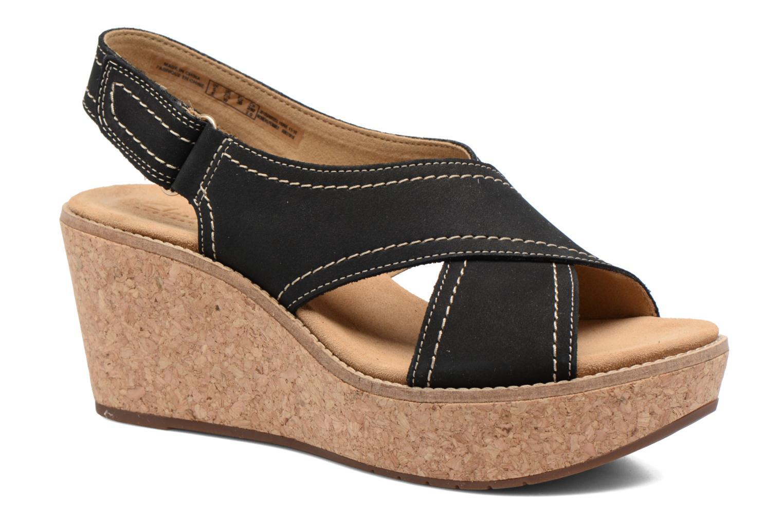 Sandales et nu-pieds Clarks Aisley Tulip Noir vue détail/paire