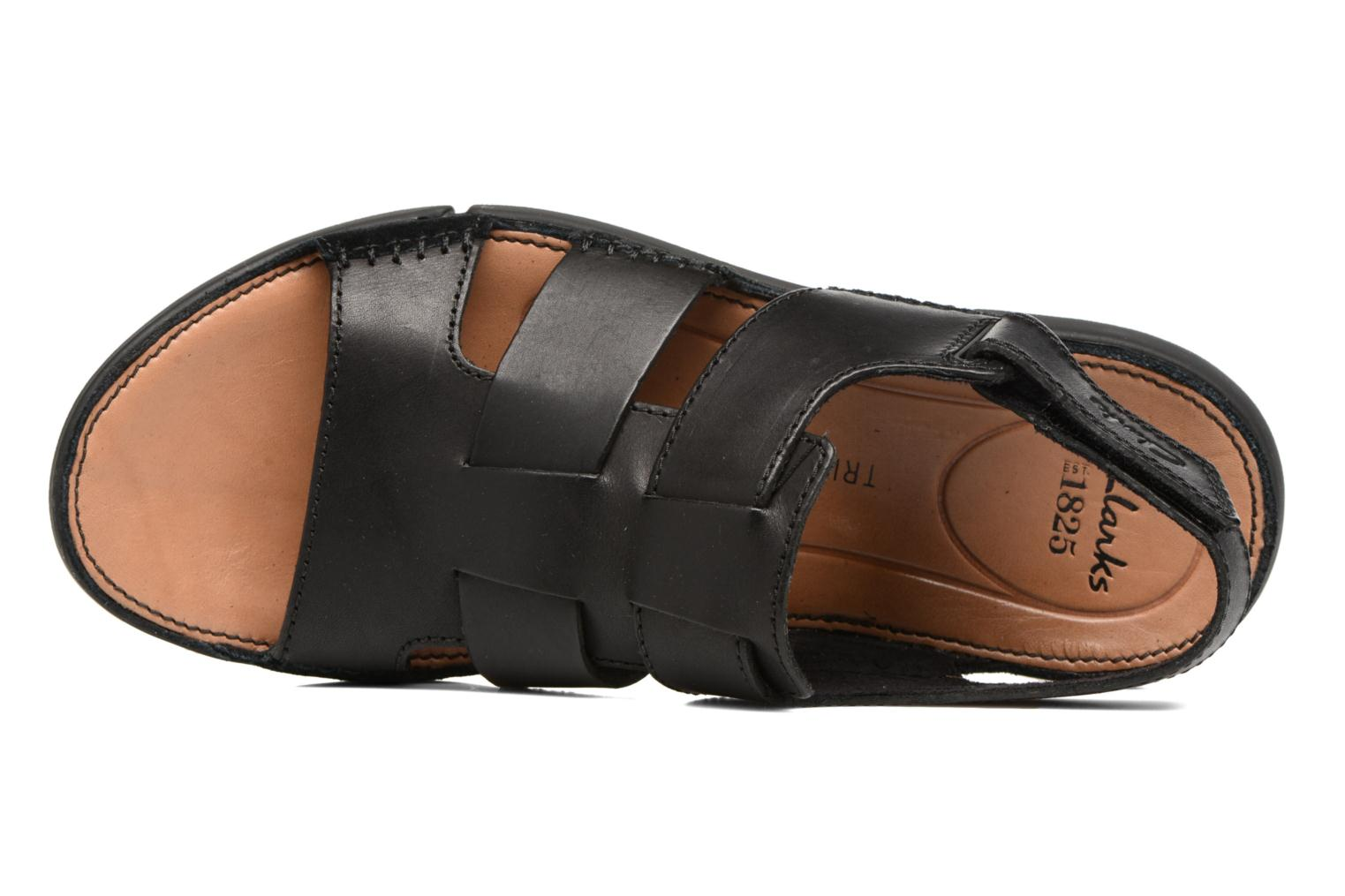 Sandals Clarks Trisand Bay Black view from the left