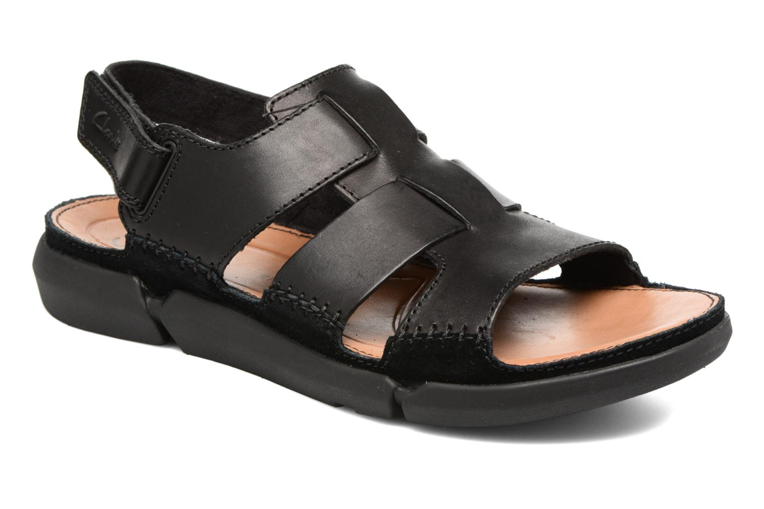 Sandals Clarks Trisand Bay Black detailed view/ Pair view