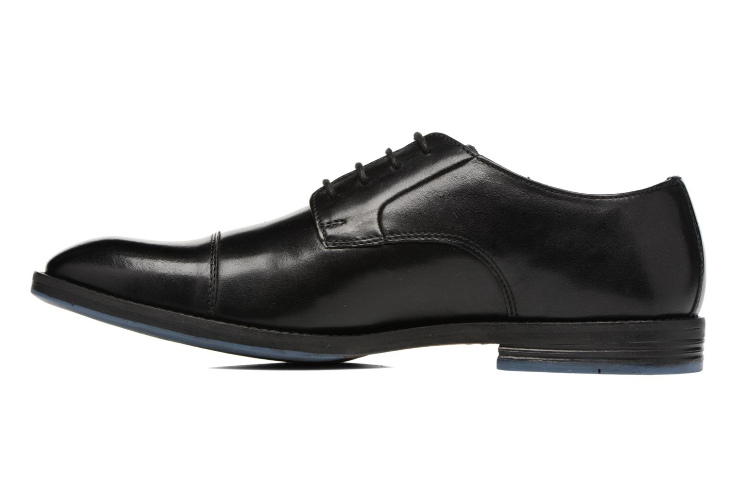 Lace-up shoes Clarks Prangley Cap Black front view