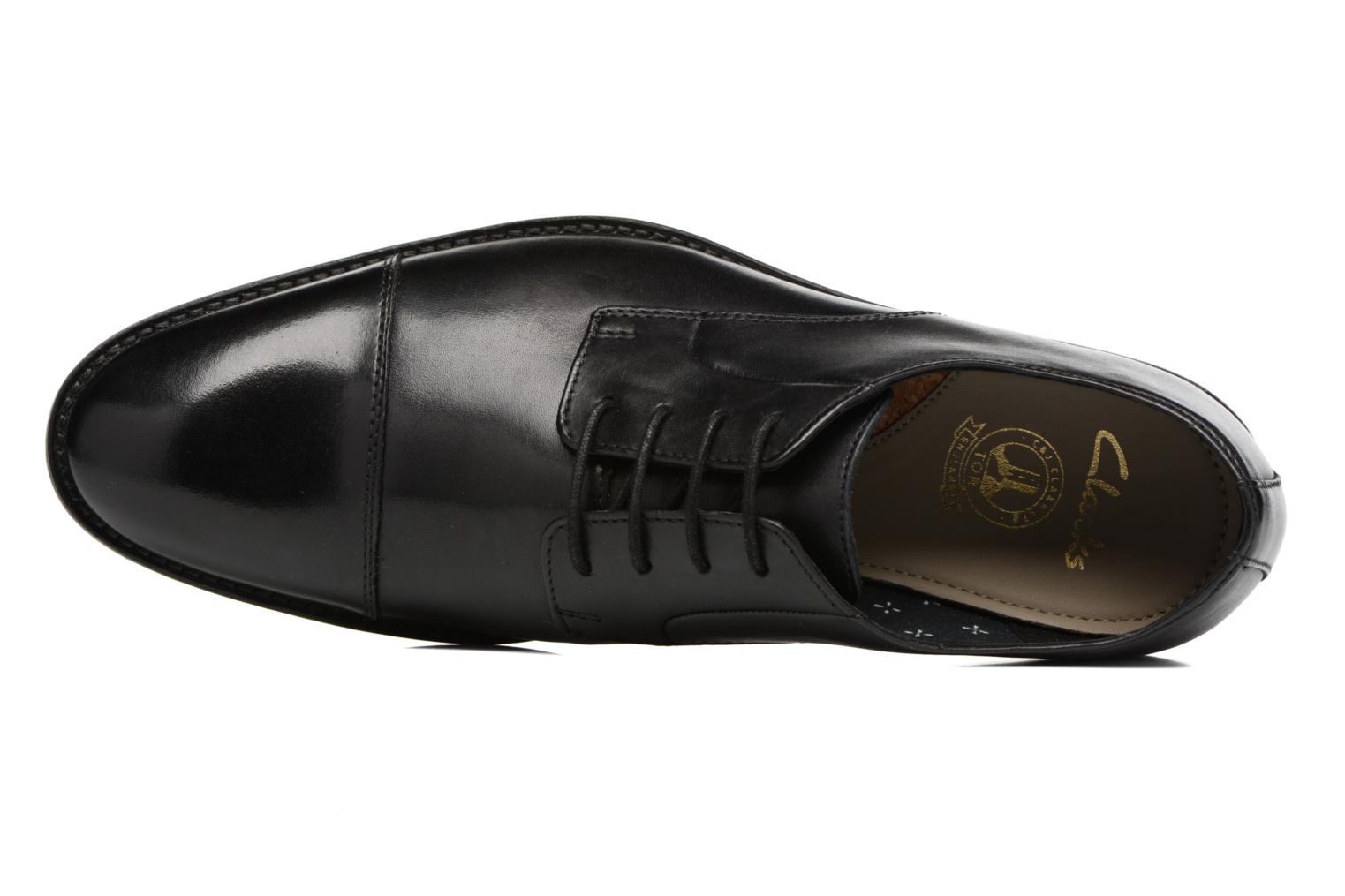 Lace-up shoes Clarks Prangley Cap Black view from the left