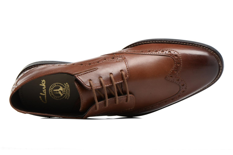 Chaussures à lacets Clarks Prangley Limit Marron vue gauche