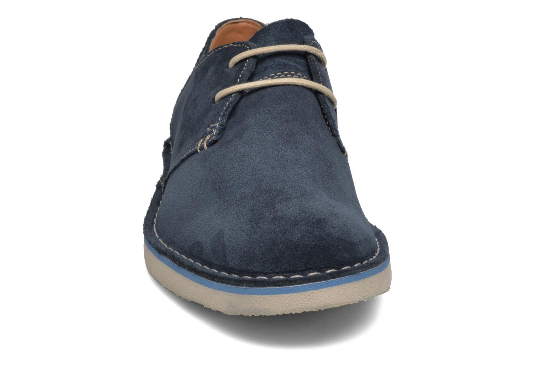 Chaussures à lacets Clarks Jareth Walk Bleu vue portées chaussures
