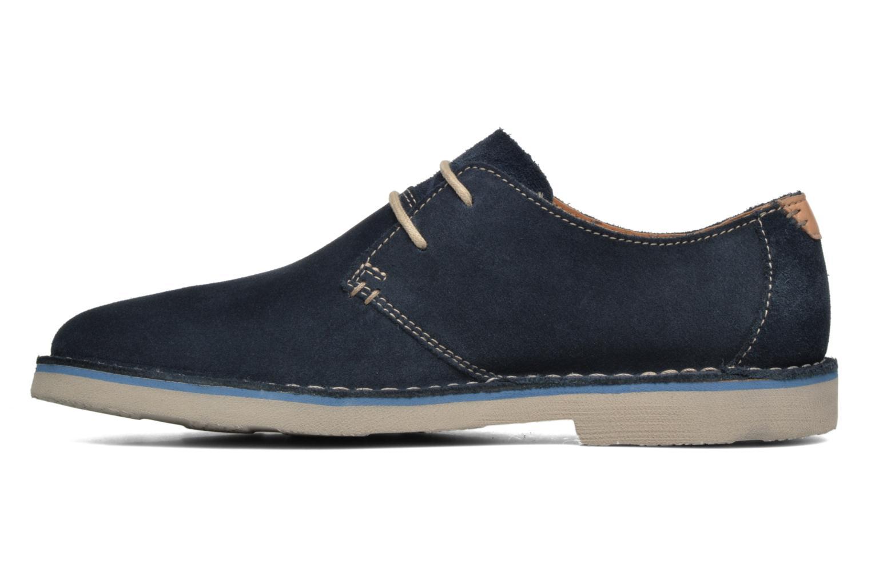 Chaussures à lacets Clarks Jareth Walk Bleu vue face